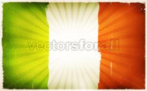 Vintage Irish Flag Poster Background - Vectorsforall