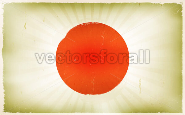 Vintage Japan Flag Poster Background - Vectorsforall