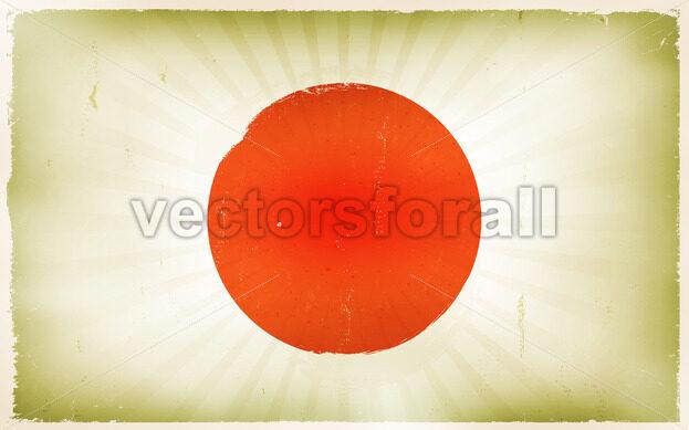 Vintage Japan Flag Poster Background - Vectorsforall