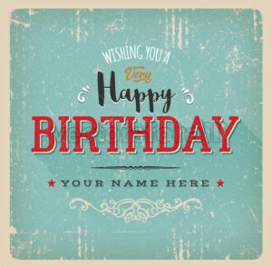 Vintage Retro Birthday Card - Vectorsforall
