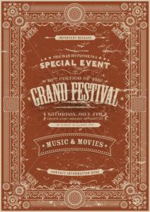 Vintage Retro Festival Poster Background - Vectorsforall