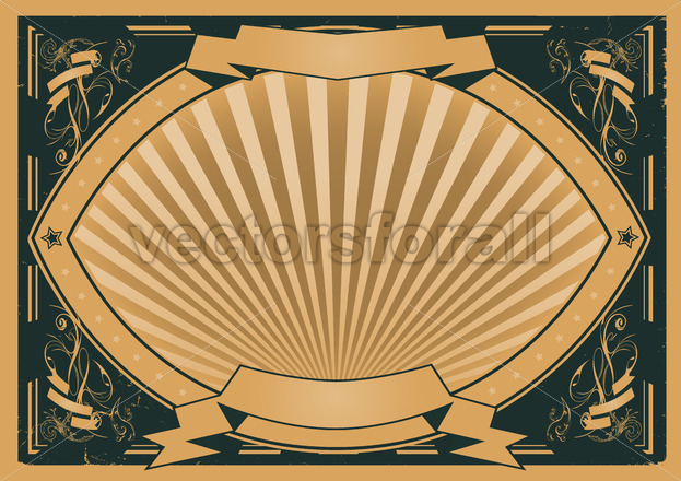 Vintage Ribbons And Banners Poster - Vectorsforall