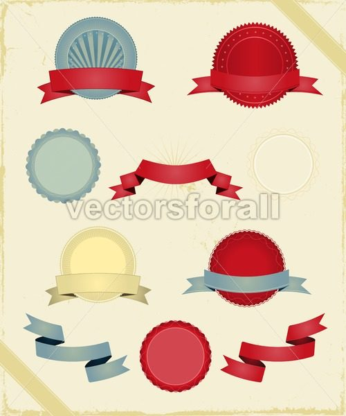 Vintage Ribbons And Banners Series - Vectorsforall