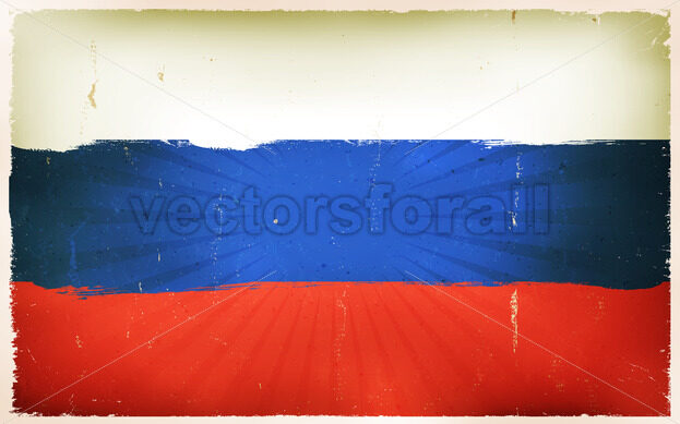 Vintage Russian Flag Poster Background - Vectorsforall