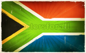 Vintage South Africa Flag Poster Background - Vectorsforall