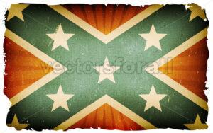 Vintage US Confederate Flag Poster Background - Vectorsforall