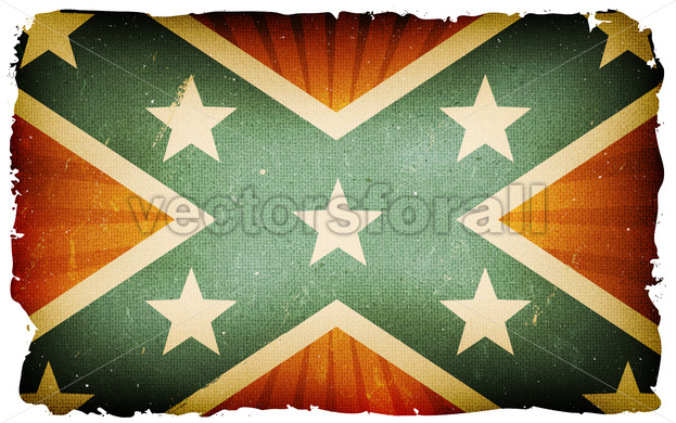 Vintage US Confederate Flag Poster Background - Vectorsforall