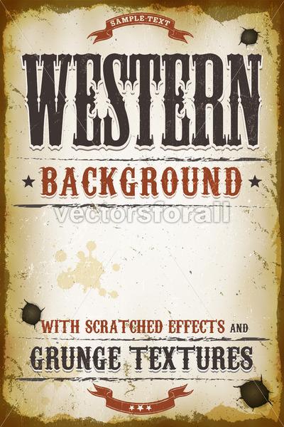 Vintage Western Background - Vectorsforall