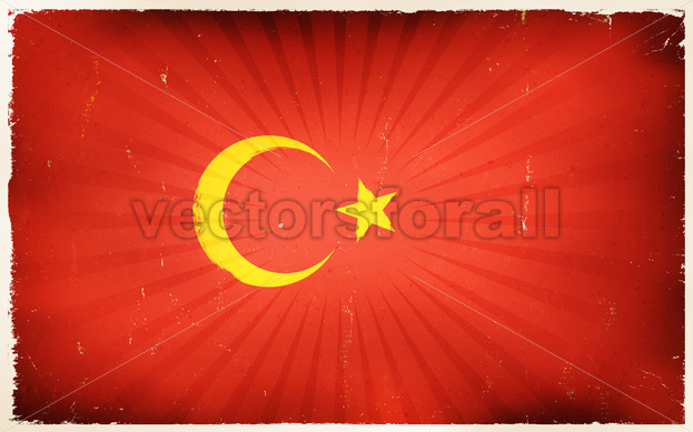 Vintage turkey Flag Poster Background - Vectorsforall