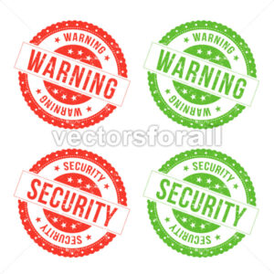 Warning And Security Seals - Vectorsforall