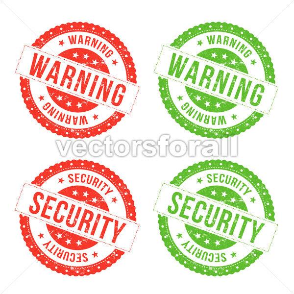 Warning And Security Seals - Vectorsforall