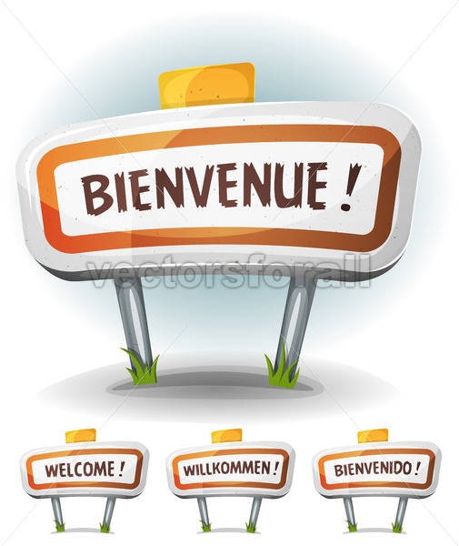 Welcome Town Or City Sign - Vectorsforall