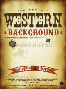 Western Grunge Poster - Vectorsforall