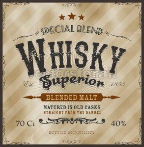 Whisky Label For Bottle - Vectorsforall