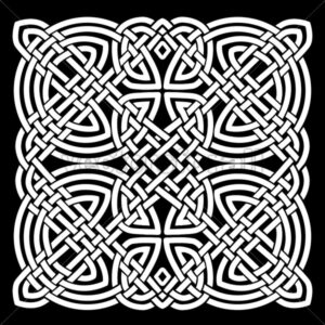 White And Black Celtic Mandala Background - Vectorsforall