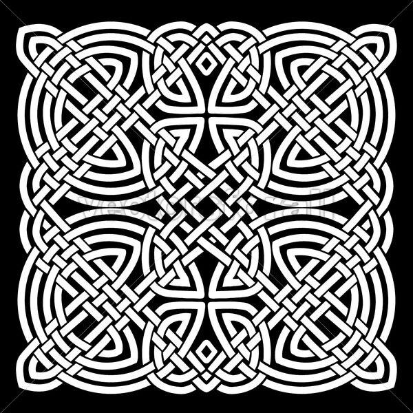 White And Black Celtic Mandala Background - Vectorsforall