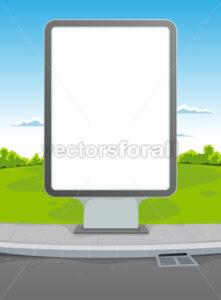 White Billboard - Vectorsforall