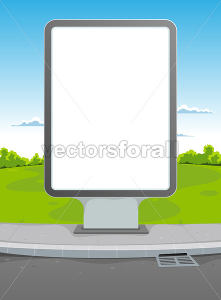 White Billboard - Vectorsforall