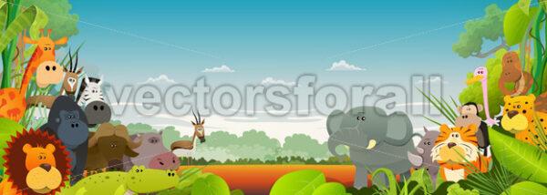 Wildlife African Animals Background - Vectorsforall