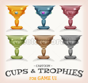Winners Cups And Trophies For Game UI - Vectorsforall