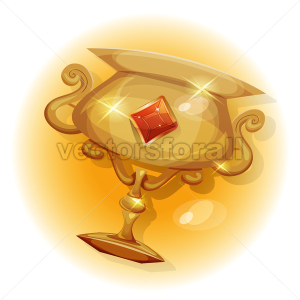 Winners Gold Trophy For Game UI - Vectorsforall