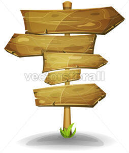 Wood Road Signs Arrows - Vectorsforall