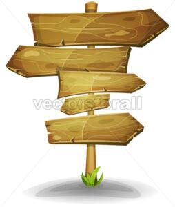 Wood Road Signs Arrows - Vectorsforall