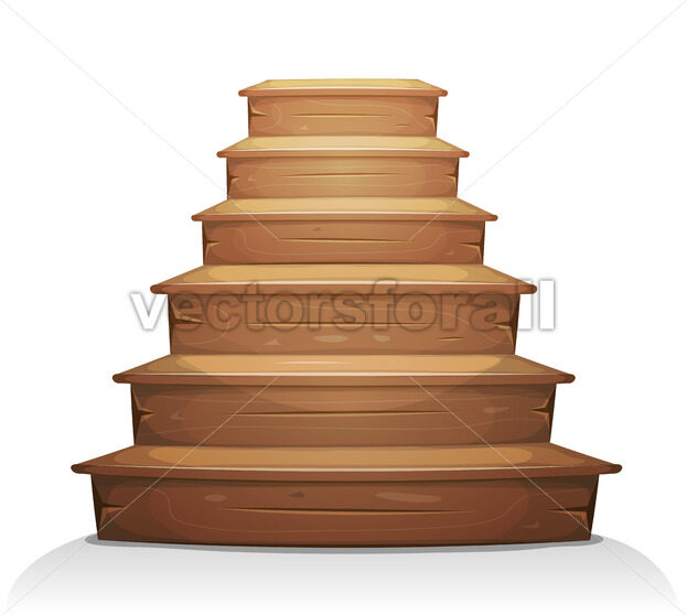 Wood Stairs - Vectorsforall