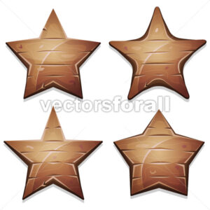 Wood Stars Icons For Ui Game - Vectorsforall