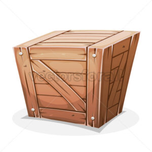 Wooden Crate - Vectorsforall