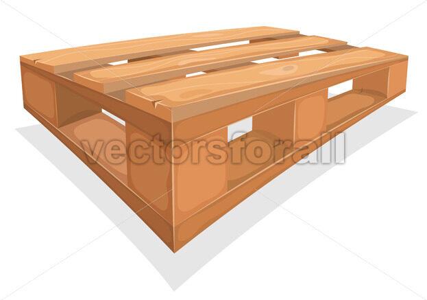 Wooden Palett For Warehouse - Vectorsforall
