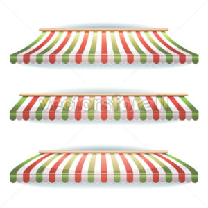 cartoon-funny-wide-italian-striped-awnings - Vectorsforall