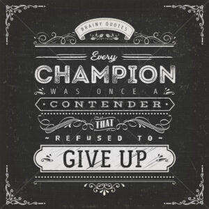Business And Sport Motivation Quote Poster - Vectorsforall
