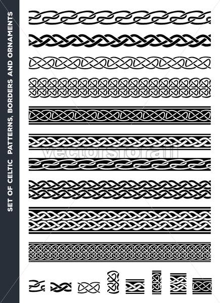 Celtic Patterns And Ornaments Set - Vectorsforall