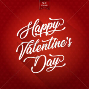 Happy Valentine's Day Background - Vectorsforall