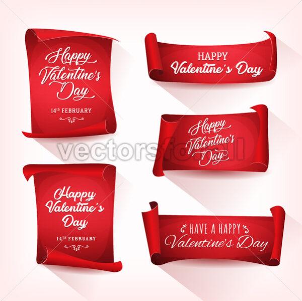 Happy Valentine's Day Banners - Vectorsforall
