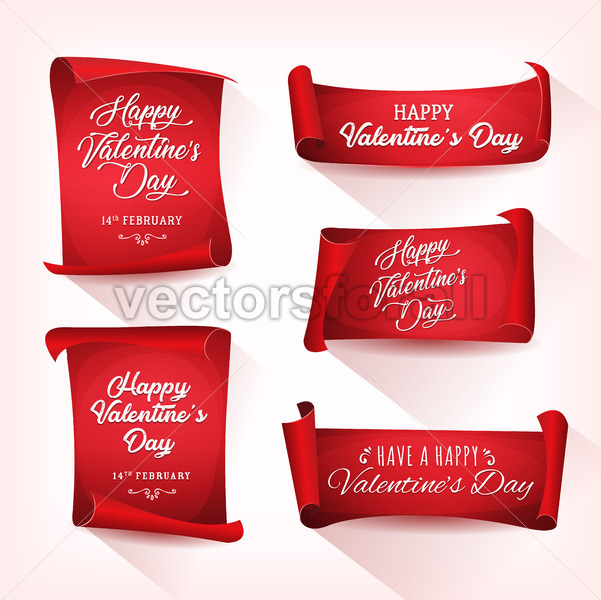 Happy Valentine's Day Banners - Vectorsforall
