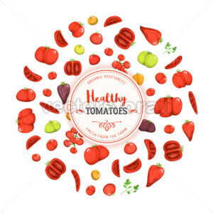 Healthy Eating And Tomatoes Background - Vectorsforall