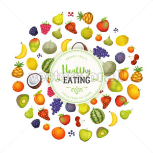 Healthy Eating With Fruits Background - Vectorsforall