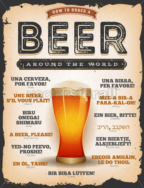 How To Order A Beer Around The World - Vectorsforall