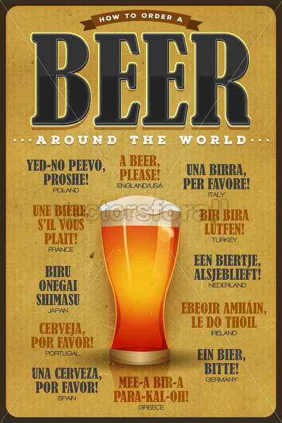 How To Order A Beer Around The World Poster - Vectorsforall