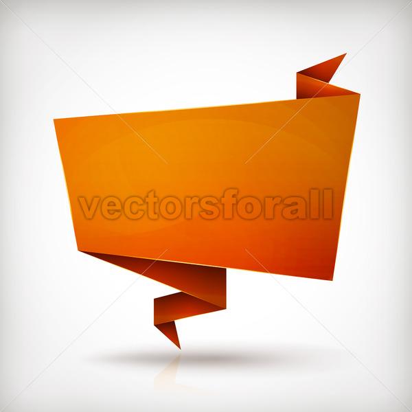 Origami Paper Banner - Vectorsforall
