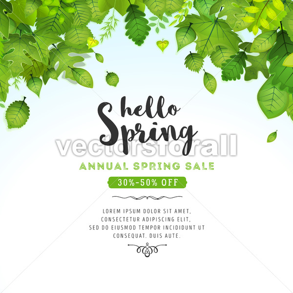 Spring Leaves Background - Vectorsforall