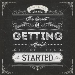 Vintage Calligraphic Motivation Quote Poster - Vectorsforall