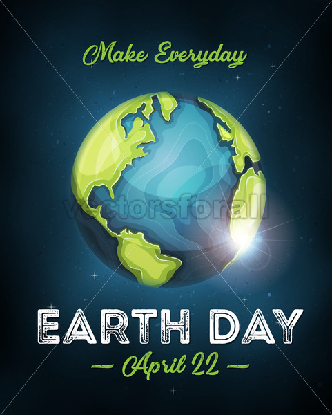 Earth Day Celebration Poster - Vectorsforall