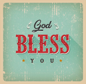 God Bless You Card - Vectorsforall