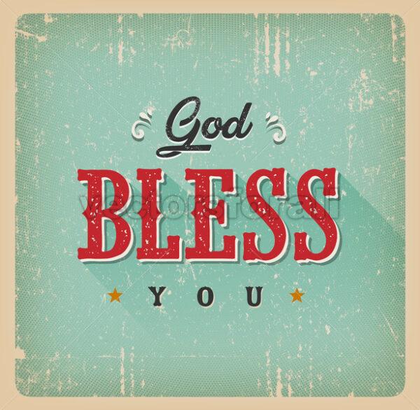 God Bless You Card - Vectorsforall