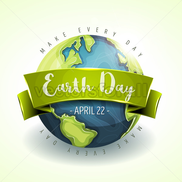 Happy Earth Day Banner - Vectorsforall