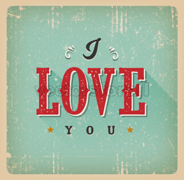 I Love You Card - Vectorsforall