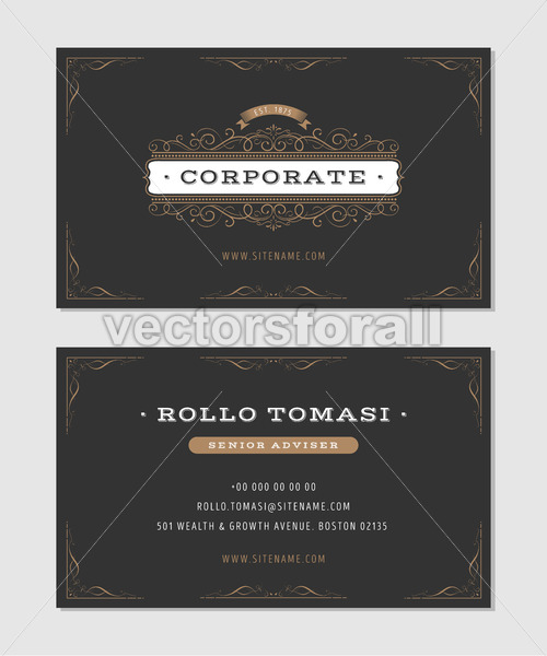 Luxury Business Card - Vectorsforall